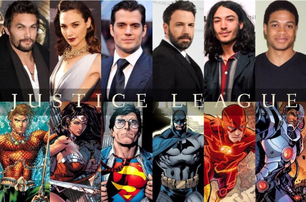 Current cast of Justice League