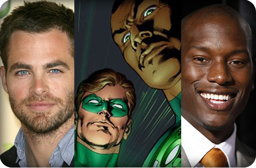 Chris Pine and Tyrese Gibson rumored to play Hal Jordan and John Stewart