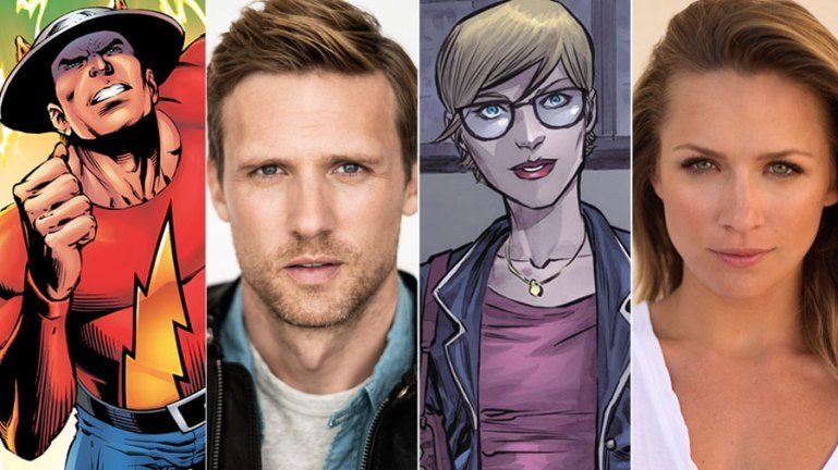 Teddy Sears and Shantel VanSanten cast as Jay Garrick and Patty Spivot.