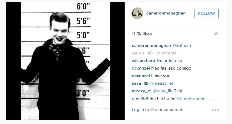 Cameron Monaghan's Instagram photo looks a LOT like The Joker