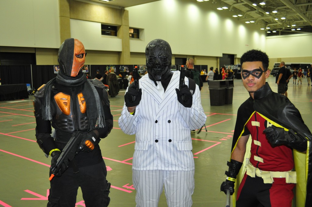 Deathstroke, Black Mask and Robin