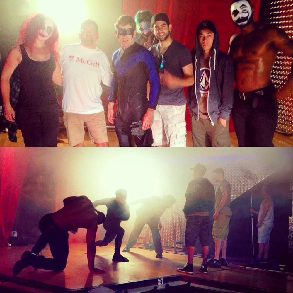 The stunt crew build an epic battle