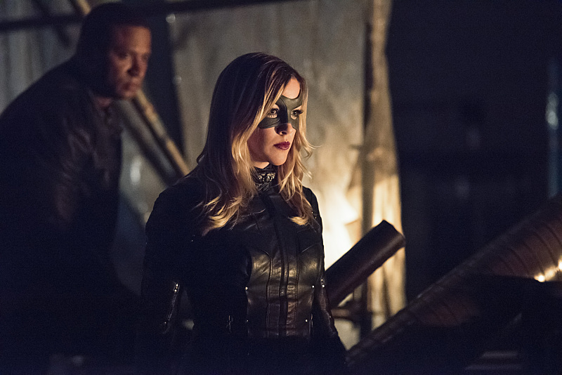 "Arrow -- ""Green Arrow"" -- Image AR401B_0045b -- Pictured (L-R): David Ramsey as John Diggle and Katie Cassidy as Black Canary -- Photo: Dean Buscher /The CW -- © 2015 The CW Network, LLC. All Rights Reserved."