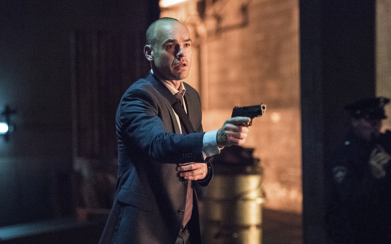 "Arrow -- ""Green Arrow"" -- Image AR401B_0535b -- Pictured: Paul Blackthorne as Detective Quentin Lance -- Photo: Dean Buscher /The CW -- © 2015 The CW Network, LLC. All Rights Reserved"
