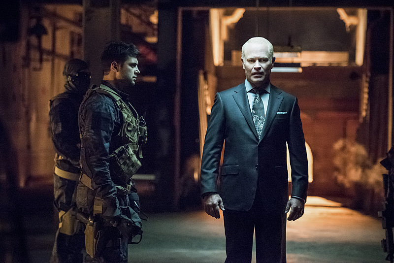 "Arrow -- ""Green Arrow"" -- Image AR401B_0187b -- Pictured: Neal McDonough as Damien Darhk -- Photo: Dean Buscher /The CW -- © 2015 The CW Network, LLC. All Rights Reserved"