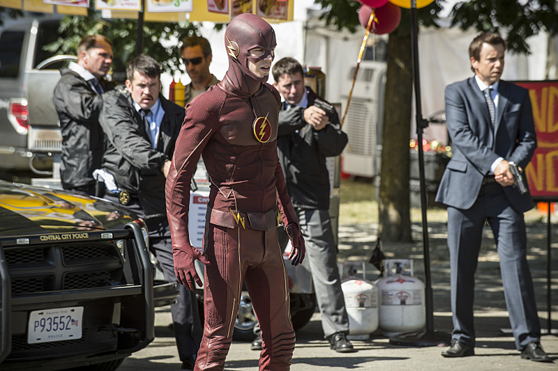 "The Flash -- ""The Man Who Saved Central City"" -- Image FLA201a_0283b -- Pictured: Grant Gustin as The Flash -- Photo: Cate Cameron /The CW -- © 2015 The CW Network, LLC. All rights reserved"