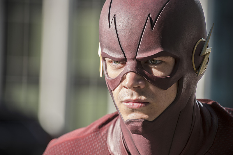 "The Flash -- ""The Man Who Saved Central City"" -- ImageFLA201c_0236b.jpg -- Pictured: Grant Gustin as The Flash -- Photo: Cate Cameron /The CW -- © 2015 The CW Network, LLC. All rights reserved."