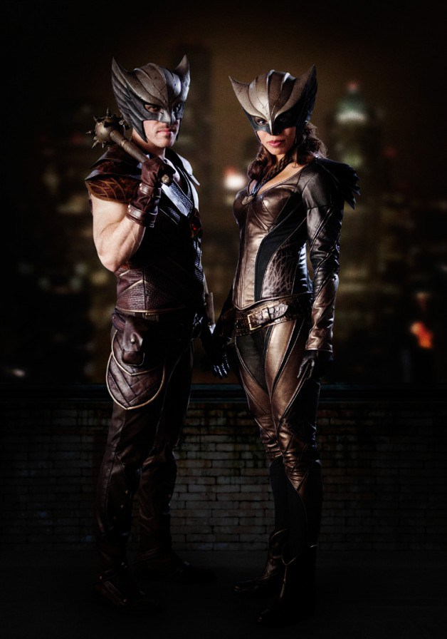The legendary Hawkman (Falk Henschel) and his Hawkgirl (Ciara Renee) as the will appear in the live-action DC TV Universe on The CW.