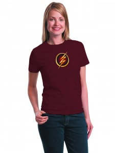 FLASH TV SYMBOL WOMENS T/S LG
