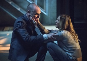 "Arrow -- ""Beyond Redemption"" -- Image AR405B_0414b.jpg -- Pictured (L-R): Paul Blackthorne as Quentin Lance and Katie Cassidy as Laurel Lance -- Photo: Dean Buscher/ The CW -- © 2015 The CW Network, LLC. All Rights Reserved."