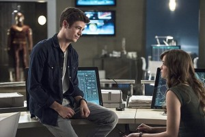 """The Flash -- """"The Fury of Firestorm"""" -- FLA204A_0169b -- Pictured (L-R): Grant Gustin as Barry Allen and Danielle Panabaker as Caitlin Snow -- Photo: Cate Cameron /The CW -- © 2015 The CW Network, LLC. All rights reserved."""