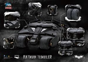 DARK KNIGHT BATMAN 75TH ANN 1/9 TUMBLER AHV SET