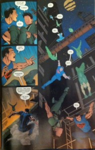 Grayson Annual 2 Supes and Dick Falling