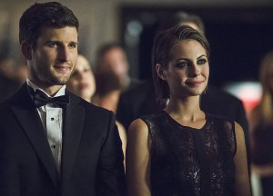 """Arrow -- """"Brotherhood"""" -- Image AR407B_224b.jpg -- Pictured: Parker Young as Alex Davis and Willa Holland as Thea Queen -- Photo: Cate Cameron/The CW -- © 2015 The CW Network, LLC. All Rights Reserved."""