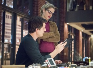 """Arrow -- """"Brotherhood"""" -- Image AR407A_0319b.jpg -- Pictured (L-R): Brandon Routh as Ray Palmer and Emily Bett Rickards as Felicity Smoak -- Photo: Dean Buscher/The CW -- © 2015 The CW Network, LLC. All Rights Reserved"""