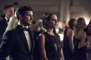 """Arrow -- """"Brotherhood"""" -- Image AR407B_087b.jpg -- Pictured (L-R): Parker Young as Alex Davis and Willa Holland as Thea Queen -- Photo: Cate Cameron/The CW -- © 2015 The CW Network, LLC. All Rights Reserved."""