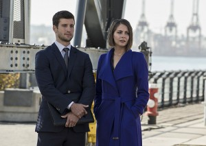 """Arrow -- """"Brotherhood"""" -- Image AR407B_014b.jpg -- Pictured (L-R): Parker Young as Alex Davis and Willa Holland as Thea Queen -- Photo: Cate Cameron/The CW -- © 2015 The CW Network, LLC. All Rights Reserved."""