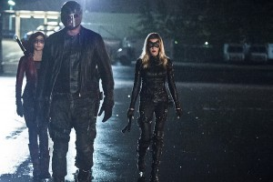 "Arrow -- ""Lost Souls"" -- Image AR406B_0346b.jpg -- Pictured (L-R): Willa Holland as Thea Queen, David Ramsey as John Diggle and Katie Cassidy as Laurel Lance -- Photo: Cate Cameron/ The CW -- © 2015 The CW Network, LLC. All Rights Reserved."