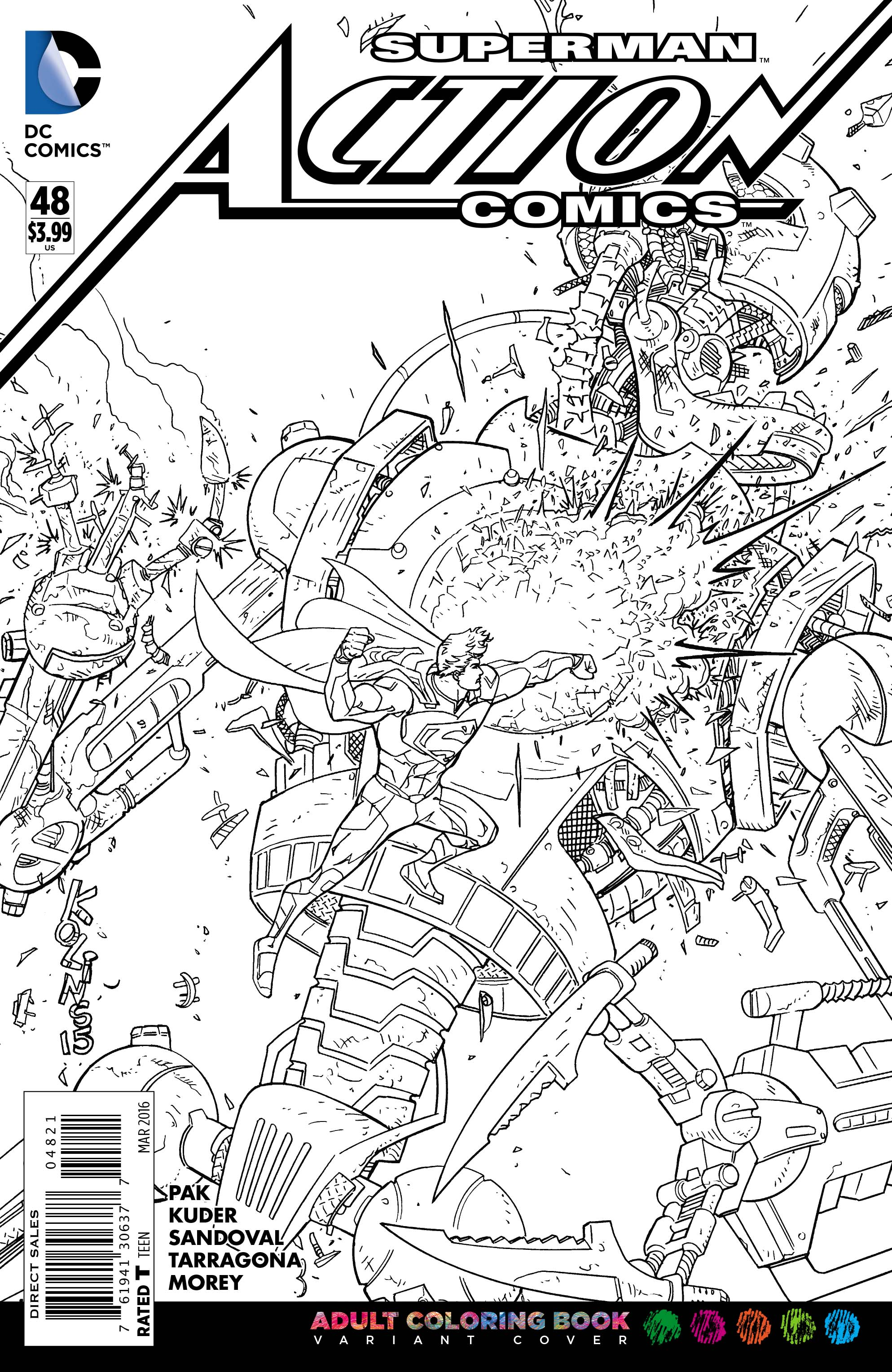 DC\'s Adult Coloring Book Variant Covers Will Make You Feel Like A ...
