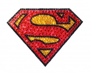 DC HEROES CRYSTAL SUPERMAN LOGO SMALL DECAL