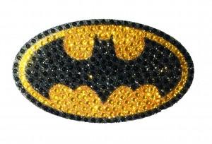 DC HEROES CRYSTAL BATMAN LOGO MEDIUM DECAL