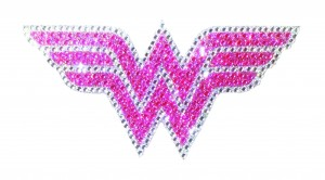 DC HEROES CRYSTAL WONDER WOMAN PINK LOGO LARGE DECAL