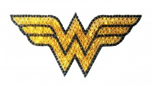 DC HEROES CRYSTAL WONDER WOMAN LOGO SMALL DECAL