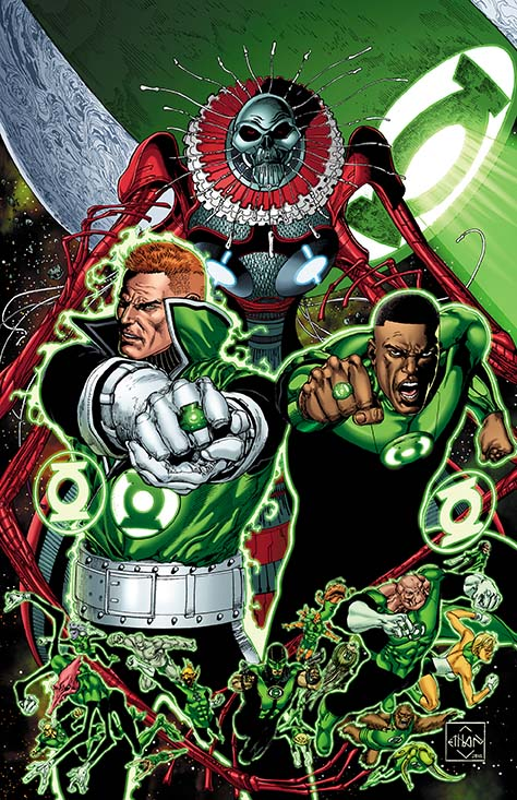 Cover to GREEN LANTERN CORPS: EDGE OF OBLIVION #3 by Van Sciver