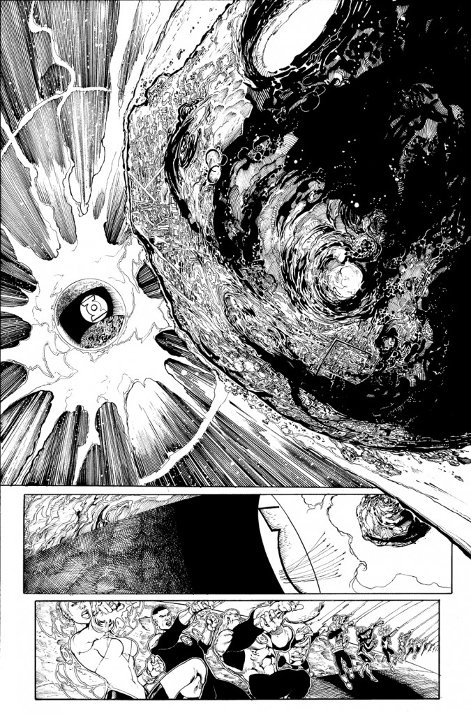 Interior black and white page for GREEN LANTERN CORPS: EDGE OF OBLIVION Issue #1 by Van Sciver