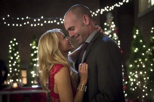 "Arrow -- ""Dark Waters"" -- Image AR409B_0042b.jpg -- Pictured (L-R): Charlotte Ross as Donna Smoak and Paul Blackthorne as Detective Quentin Lance -- Photo: Diyah Pera/ The CW -- © 2015 The CW Network, LLC. All Rights Reserved."