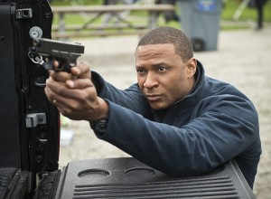 "Arrow -- ""Dark Waters"" -- Image AR409A_0402b.jpg -- Pictured: David Ramsey as John Diggle -- Photo: Diyah Pera/ The CW -- © 2015 The CW Network, LLC. All Rights Reserved."