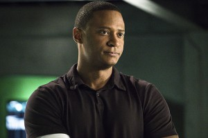 "Arrow -- ""A.W.O.L."" -- Image AR411A_0177b.jpg -- Pictured: David Ramsey as John Diggle -- Photo: Liane Hentscher/ The CW -- © 2016 The CW Network, LLC. All Rights Reserved."