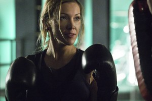 "Arrow -- ""A.W.O.L."" -- Image AR411A_0062b.jpg -- Pictured: Katie Cassidy as Laurel Lance -- Photo: Liane Hentscher/ The CW -- © 2016 The CW Network, LLC. All Rights Reserved."