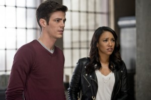 """The Flash -- """"The Reverse Flash Returns"""" -- Image FLA211a_0180b -- Pictured (L-R): Grant Gustin as Barry Allen and Candice Patton as Iris West -- Photo: Diyah Pera/The CW -- © 2016 The CW Network, LLC. All rights reserved."""