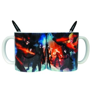 DC TV SUPER HERO FIGHT CLUB MUG PEN HOLDER