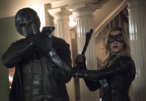 "Arrow -- ""Blood Debts"" -- Image AR410B_0231b.jpg -- Pictured (L-R): David Ramsey as John Diggle and Katie Cassidy as Black Canary -- Photo: Katie Yu/ The CW -- © 2015 The CW Network, LLC. All Rights Reserved."