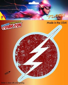 DC HEROES DISTRESSED FLASH LOGO NYCC 2015 EXCL VINYL DECAL