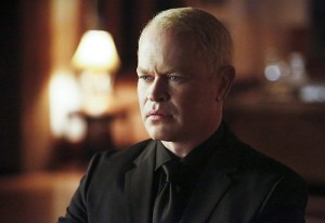 "Arrow -- ""Taken"" -- Image AR415A_0011b.jpg -- Pictured: Neal McDonough as Damien Darhk -- Photo: Bettina Strauss/ The CW -- © 2016 The CW Network, LLC. All Rights Reserved."