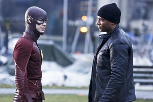"""The Flash -- """"King Shark"""" -- Image FLA215b_0054b -- Pictured (L-R): Grant Gustin as Barry Allen / The Flash and David Ramsey as John Diggle -- Photo: Bettina Strauss/The CW -- © 2016 The CW Network, LLC. All rights reserved."""