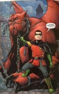 Batman and Robin Eternal 20 Daminan the real robin and frined