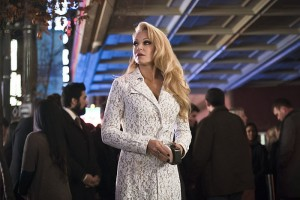 """Arrow -- """"Code of Silence"""" -- Image AR414b_0173b.jpg -- Pictured:  Charlotte Ross as Donna Smoak -- Photo: Katie Yu/ The CW -- © 2016 The CW Network, LLC. All Rights Reserved."""