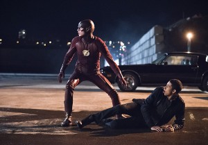 "The Flash -- ""Fast Lane"" -- Image: FLA212A_0038b.jpg -- Pictured (L-R): Grant Gustin as The Flash and Keiynan Lonsdale as Wally West -- Photo: Dean Buscher/The CW -- © 2016 The CW Network, LLC. All rights reserved."