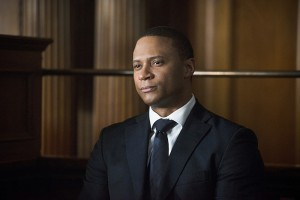 "Arrow -- ""Broken Hearts"" -- Image AR416b_0371b.jpg -- Pictured: David Ramsey as John Diggle -- Photo: Diyah Pera /The CW -- © 2016 The CW Network, LLC. All Rights Reserved."