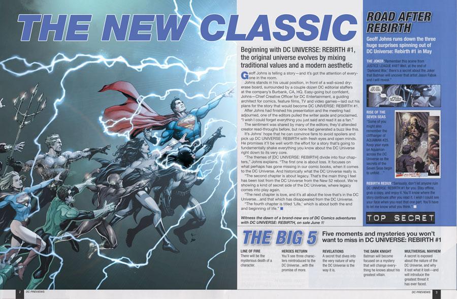 Rebirth Magazine dccomicsnews