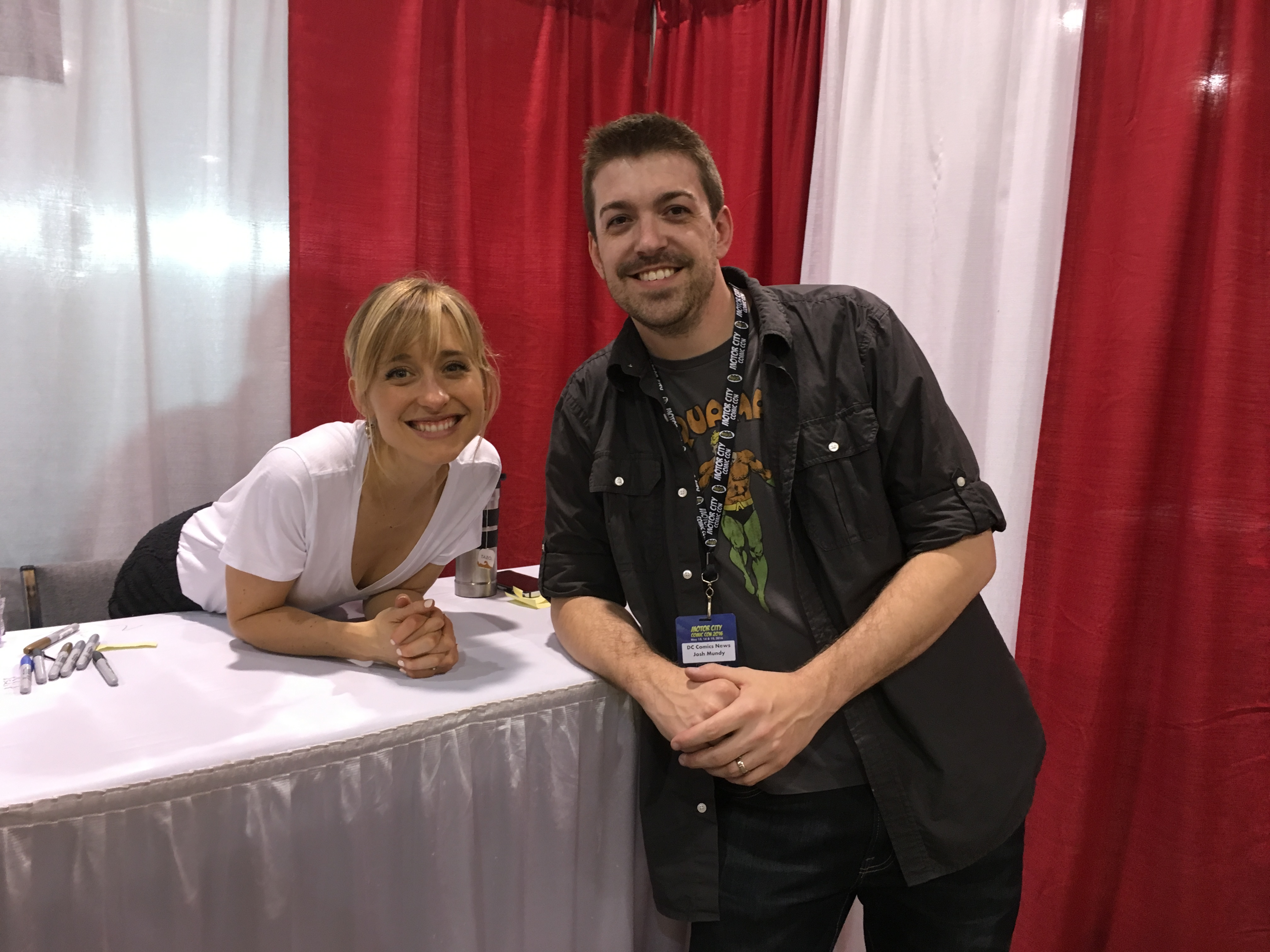 Allison Mack of Smallville fame and I.