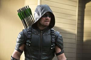 """Arrow -- """"Lost in the Flood"""" -- Image AR422b_0203b.jpg -- Pictured: Stephen Amell as Green Arrow -- Photo: Katie Yu/The CW -- © 2016 The CW Network, LLC. All Rights Reserved."""