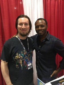 Yours truly with Malcolm Goodwin.