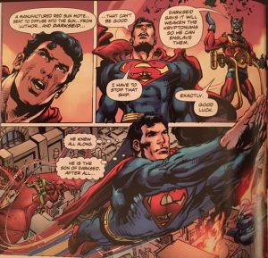 Coming of the Supermen 4 iconic flying