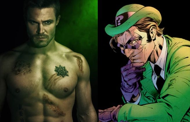 stephen amell as the riddler
