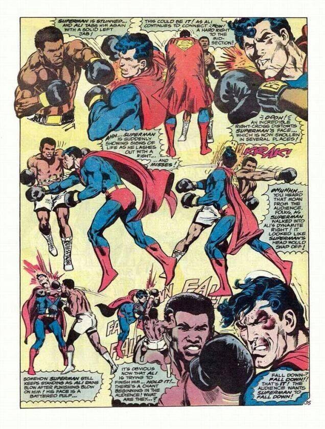 """""""Superman vs. Muhammad Ali"""" panel 1"""